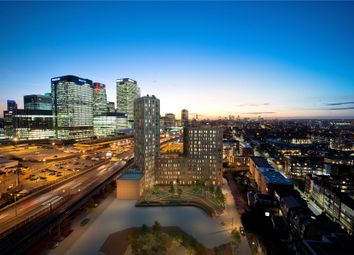 Thumbnail 2 bed flat for sale in Manhattan Plaza, Prestons Road, London