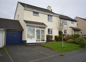 Thumbnail 3 bed link-detached house to rent in Pendeen Park, Helston