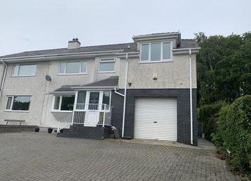 Thumbnail 5 bed semi-detached house for sale in Bangor Road, Bethesda, Bangor, Gwynedd