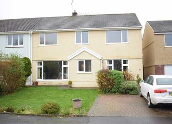 Thumbnail 4 bed semi-detached house for sale in Gwerneinon Road, Derwen Fawr, Sketty
