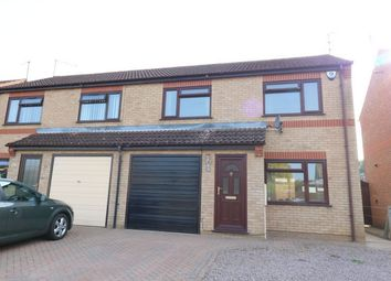 Thumbnail 3 bed semi-detached house for sale in Brudenell Close, Baston, Market Deeping, Lincolnshire
