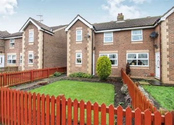 Thumbnail 3 bed semi-detached house for sale in Welburn Court, Beeford, Driffield