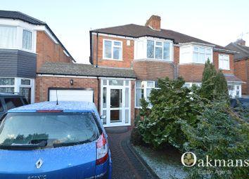 Thumbnail 3 bed semi-detached house for sale in Sylvan Avenue, Birmingham, West Midlands.