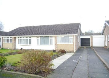 Thumbnail 2 bed semi-detached bungalow for sale in Castle Way, Dinnington, Newcastle Upon Tyne