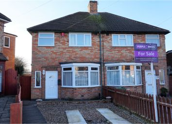 Thumbnail 3 bed semi-detached house for sale in Hillcroft Close, Leicester