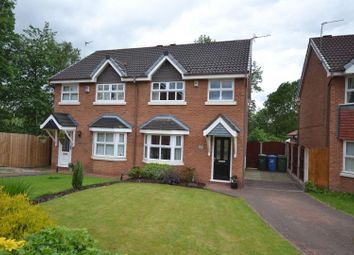 Thumbnail 3 bed semi-detached house for sale in Mossdale Close, Whittle Hall, Warrington