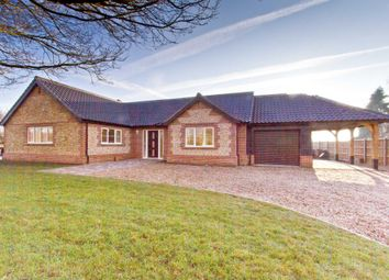 Thumbnail 4 bed detached bungalow for sale in Barrows Hole Lane, Little Dunham, King's Lynn