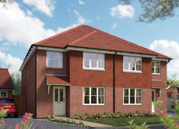 "Thumbnail 4 bed semi-detached house for sale in ""The Salisbury"" at Matthewsgreen Road, Wokingham"