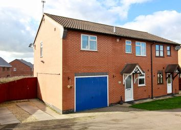 Thumbnail 3 bed semi-detached house for sale in Geveze Way, Broughton Astley, Leicester