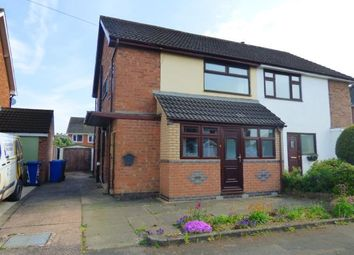 Thumbnail 3 bed semi-detached house for sale in Claremont Road, Tamworth, Staffordshire