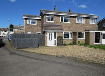 Thumbnail 3 bed semi-detached house for sale in Manor Grove, Eynesbury, St. Neots