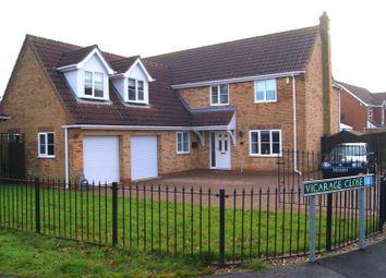 Thumbnail 5 bedroom detached house for sale in Vicarage Close, Cowbit, Spalding