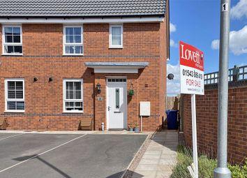 Thumbnail 3 bed semi-detached house for sale in Freeman Drive, Hednesford, Cannock