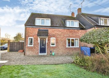Thumbnail 3 bed semi-detached house for sale in Park Road, Gressenhall, Dereham