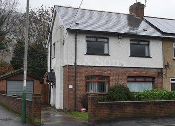 Thumbnail 3 bed semi-detached house for sale in Waunfawr Park Road, Cross Keys, Newport.