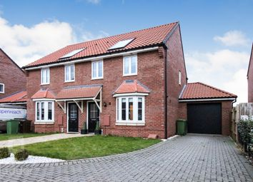 Thumbnail 3 bed semi-detached house for sale in Harvey Close, Horsford, Norwich