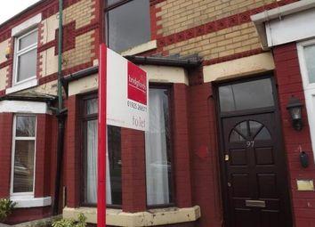Thumbnail 2 bedroom terraced house to rent in Longford Street, Warrington