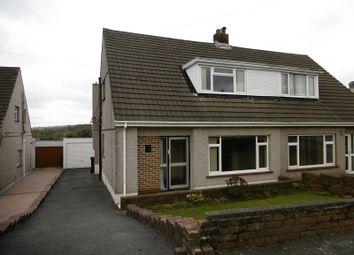 Thumbnail 2 bedroom semi-detached house for sale in Maeslan, Rhos, Pontardawe, Swansea.