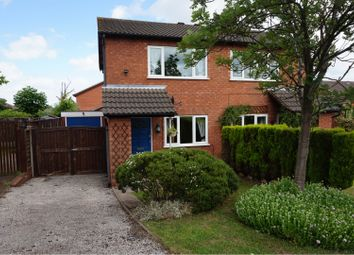 Thumbnail 2 bed semi-detached house for sale in Curlew Close, Lichfield