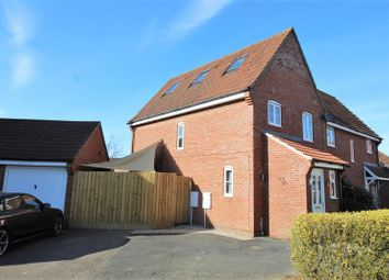 Thumbnail 4 bed semi-detached house for sale in Meadow Brown Way, Wymondham