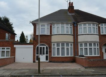 Thumbnail 3 bed semi-detached house for sale in Broadway Road, Evington, Leicester