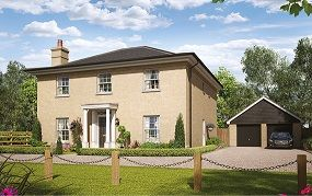 Thumbnail 4 bed detached house for sale in Silfield Road, Wymondham