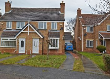 Thumbnail 3 bed semi-detached house for sale in Mendip Close, Ashington