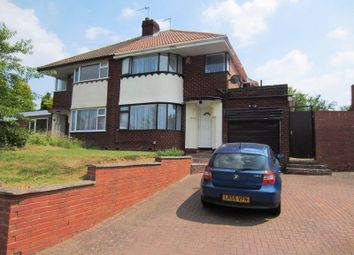 Thumbnail 3 bed semi-detached house to rent in Highfield Lane, Quinton, Birmingham