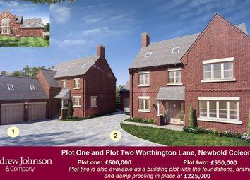 Thumbnail 5 bedroom detached house for sale in Worthington Lane, Newbold Coleorton
