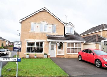 Thumbnail 5 bed detached house for sale in Poets Way, Llanharan