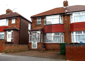 Thumbnail 3 bed semi-detached house to rent in Orchard Grove, Edgware, Middx