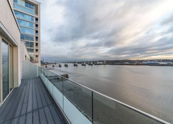 Thumbnail 3 bed flat for sale in Liner House, 3 Royal Wharf Walk, London