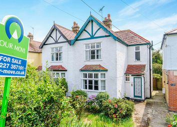 Thumbnail 4 bed semi-detached house for sale in Island Wall, Whitstable