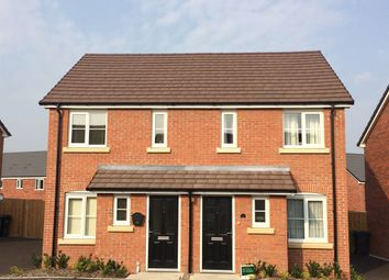 "Thumbnail 2 bed semi-detached house for sale in ""The Alnwick"" at Churchfields, Hethersett, Norwich"