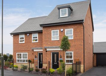 "Thumbnail 4 bed terraced house for sale in ""Woodcote"" at Station Road, Methley, Leeds"