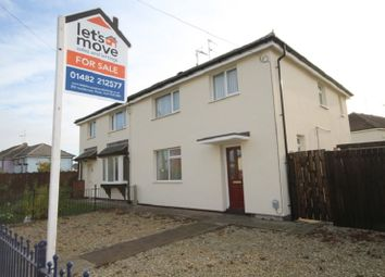 Thumbnail 3 bed semi-detached house for sale in Preston Road, Hull, East Yorkshire.