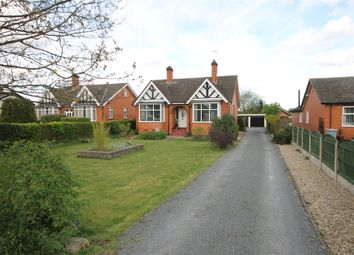 Thumbnail 3 bed detached bungalow for sale in Fosse Road, Farndon, Newark, Nottinghamshire.