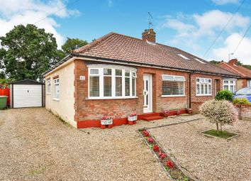 Thumbnail 3 bed semi-detached bungalow for sale in Belmore Road, Thorpe St. Andrew, Norwich