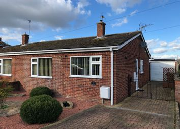 Thumbnail 2 bed semi-detached bungalow for sale in Wymondham Road, Crownthorpe, Wicklewood, Wymondham