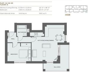 Thumbnail 1 bed flat for sale in Serenity House, Colindale Gardens, Colindale, London