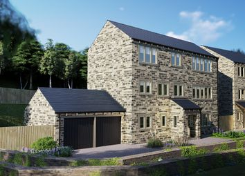 Thumbnail 4 bed detached house for sale in Thirstin Mills, Thirstin Road, Honley