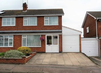 Thumbnail 3 bed semi-detached house for sale in Windrush Drive, Oadby, Leicester
