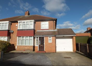 Thumbnail 3 bed semi-detached house for sale in Bourne Avenue, Fenham, Newcastle Upon Tyne