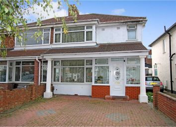 Thumbnail 3 bed semi-detached house for sale in Belmore Avenue, Hayes