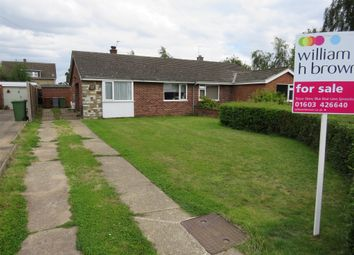 Thumbnail 2 bed semi-detached bungalow for sale in Impala Close, Sprowston, Norwich