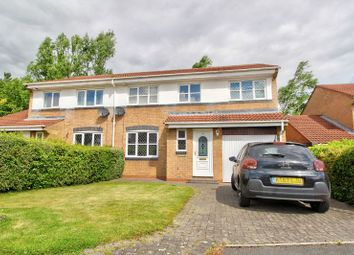 Thumbnail 4 bed semi-detached house for sale in Lesbury Close, Chester Le Street