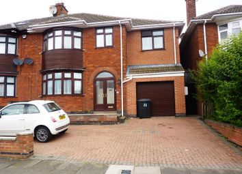 Thumbnail 5 bed semi-detached house for sale in Romway Road, Evington, Leicester