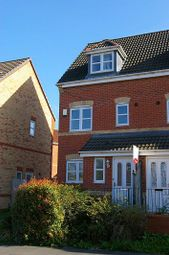 Thumbnail 4 bed town house to rent in Pipistrelle Way, Oadby, Leicester