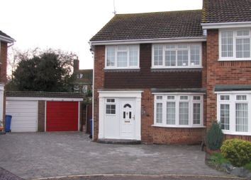 Thumbnail 3 bed semi-detached house to rent in Russell Close, Sittingbourne