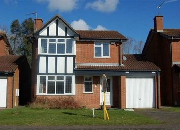 Thumbnail 4 bed detached house to rent in Lichfield Drive, East Hunsbury, Northampton